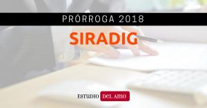Prórroga SIRADIG 2018